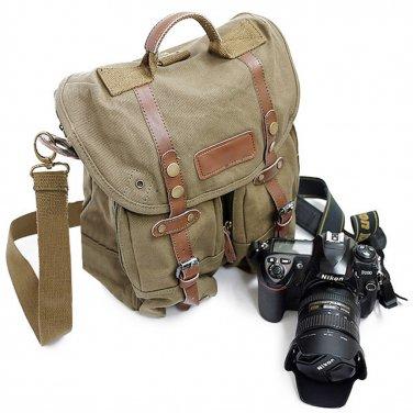 AS-KSFB36-GN Koolertron Waterproof DSLR Canvas Camera Bag Shoulder Messenger Bag for Nikon