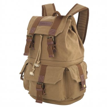 AS-KSFB32-YE Koolertron Large Canvas DSLR SLR Camera Bag Backpack Rucksack Bag for Canon 60D
