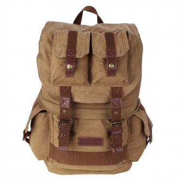 AS-KSFB33-YE Vintage Large Canvas DSLR SLR Camera Bag Rucksack Backpack For Canon Nikon Sony