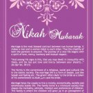 Nikah Mubarak (Brochure and Card)