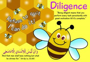 Bee diligent Poster