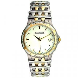 Wittnauer Two-tone Men's Diamond Bezel Watch