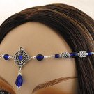 DK BLUE Renaissance CELTIC Medieval CIRCLET crown tiara