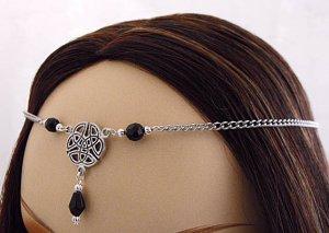 CUSTOM color CELTIC medieval renaissance Elven Bridal CIRCLET head piece SCA