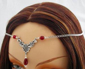 CUSTOM color Renaissance Wedding SCA CIRCLET tiara crown head piece
