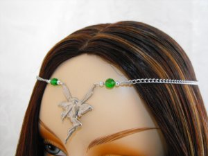 CUSTOM color Renaissance FAIRY Bridal CIRCLET tiara crown head piece