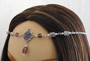 CUSTOM color CELTIC Elven Bridal tiara wedding CIRCLET head piece SCA