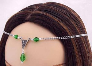 CUSTOM color Renaissance Wedding SCA CIRCLET tiara crown diadem medieval head piece