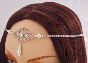 ITEM 3289 Pearl Renaissance Elven SCA LARP Medieval CIRCLET crown