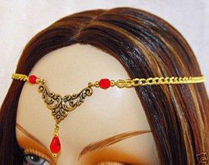 RED LARP medieval renaissance ELViN CIRCLET crown tiara #1354