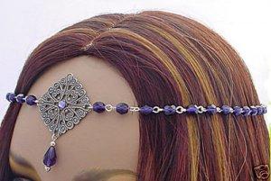Elven PURPLE Renaissance Medieval CIRCLET crown tiara #3044