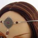 Purple Medieval Renaissance wedding tiara CIRCLET crown