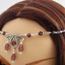 Purple Medieval Celtic ELVEN tiara CIRCLET crown LARP