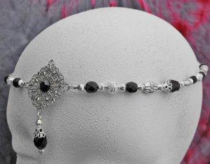 Black Renaissance Medieval diadem crown CIRCLET tiara 3342