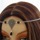 BLACK Renaissance Medieval SCA LARP CIRCLET crown tiara