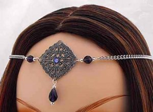 PURPLE Renaissance ELVEN  Medieval CIRCLET crown tiara