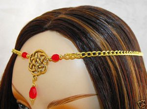CELTIC RED renaissance sca medieval CIRCLET crown tiara