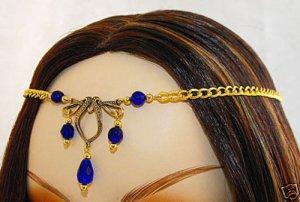 CELTIC Blue medieval ELVEN CIRCLET crown tiara diadem
