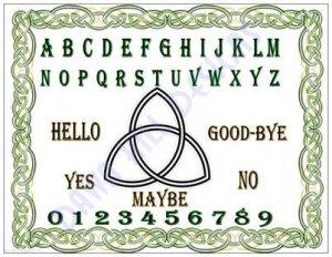 Celtic Triquetra Pendulum Board divination dowsing ouji