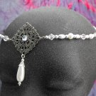 Medieval Pearl Circlet headpiece wedding crown tiara #1606