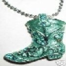 TURQUOISE COWGIRL BOOT NECKLACE