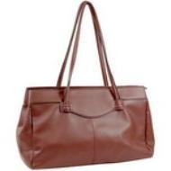 REDDISH-BROWN LAMB SKIN FASHION BAG