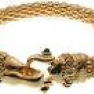 GOLD MESH BRACELET WITH MAGNETIC FANCY CLASP