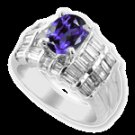 IOLITE  DIAMOND  RING