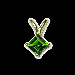 CHROME  DIOPSIDE  GOLD  PENDANT