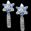 TANZANITE  WHITE  GOLD  DIAMOND  EARRINGS