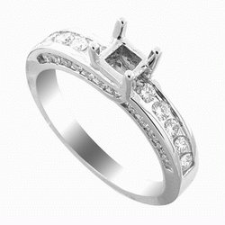 SEMI   MOUNTING  WHITE GOLD  DIAMOND  RING