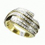 TWO THIRDS CARAT  WHITE  DIAMOND  GOLD  RING