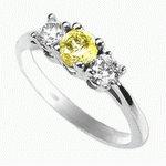 HALF CARAT YELLOW / WHITE DIAMOND ENGAGEMENT RING