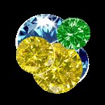 ONE  CARAT  MULTI-COLOR  DIAMOND  LOTS