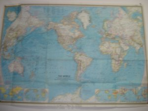 Vintage World Map from 1965