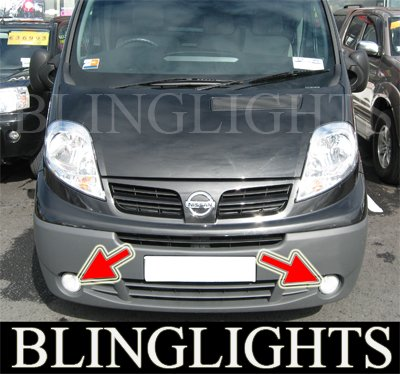 01-08 NISSAN PRIMASTAR SE FOG LIGHTS driving lamp 06 07