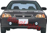 1996-1998 Honda Civic Fog Lamps lights coupe sedan 97