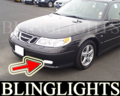 02-2005 SAAB 9-5 LINEAR FOG LIGHTS driving lamp 03 2004