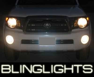 05-08 TOYOTA TACOMA RED ANGEL EYE FOG LIGHTS LAMPS 07