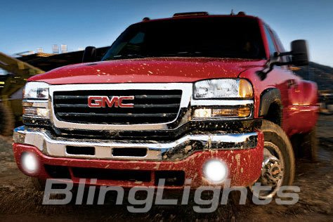 2003-2008 GMC Sierra Green Halo Fog Lamps lights 06 07