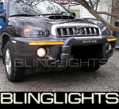 01-06 HYUNDAI SANTA FE HALO FOG LAMPS 03 04 05 lights
