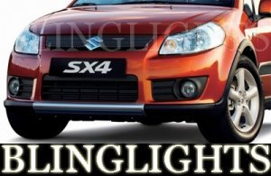 2007 2008 2009 SUZUKI SX4 ANGEL EYES FOG LAMPS HALOS LIGHTS DRIVING LIGHT HALO EYE LAMP KIT