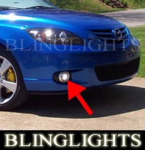 2004 2005 2006 MAZDA MAZDA3 HATCHBACK XENON FOG LAMPS DRIVING LIGHTS LAMP LIGHT KIT 3