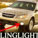 2005-2009 SUBARU OUTBACK HALO FOG LAMPS ANGEL EYE DRIVING LAMPS LIGHT EYES LAMP KIT 2006 2007 2008