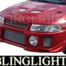1997-2002 MITSUBISHI MIRAGE SILK EVO STYLE BODY KIT BUMPER FOG LAMPS LIGHTS LAMP 1998 1999 2000 2001