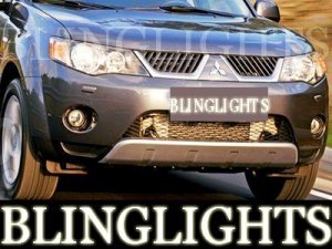2005 2006 2007 MITSUBISHI OUTLANDER LED ANGEL EYE FOG LIGHTS PAIR XENON HALO DRIVING LAMPS