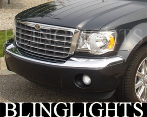2007-2009 CHRYSLER ASPEN ANGEL EYE FOG LIGHTS DRIVING LAMPS 2008