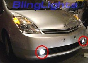 2004-2009 TOYOTA PRIUS HYBRID XENON FOG LIGHTS DRIVING LAMPS LIGHT LAMP KIT 04 05 06 07 08 09
