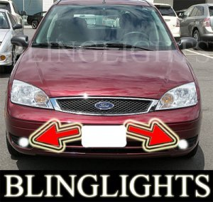 2005-2007 FORD FOCUS ZX5 SES BUMPER XENON FOG LIGHTS PAIR DRIVING LAMPS LAMP LIGHT KIT 2006