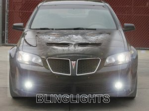 2008 2009 PONTIAC G8 XENON BUMPER FOG LIGHTS DRIVING LAMPS LIGHT LAMP KIT SEDAN GT GXP 08 09